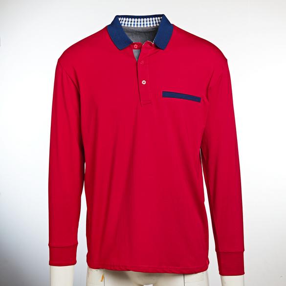 Poloshirt dunkelrot/marine