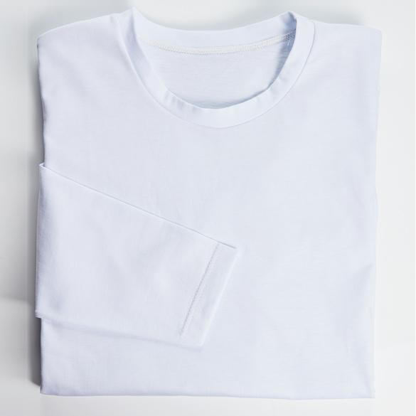 Langarmshirt weiß