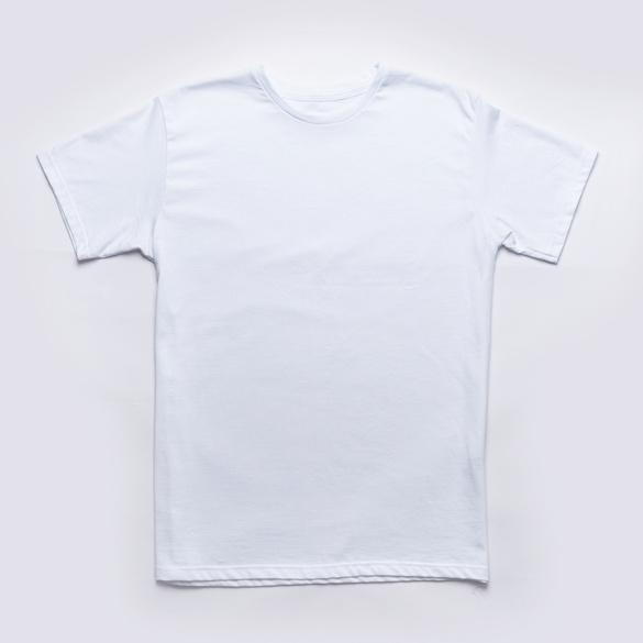 Rundhalsshirt weiß