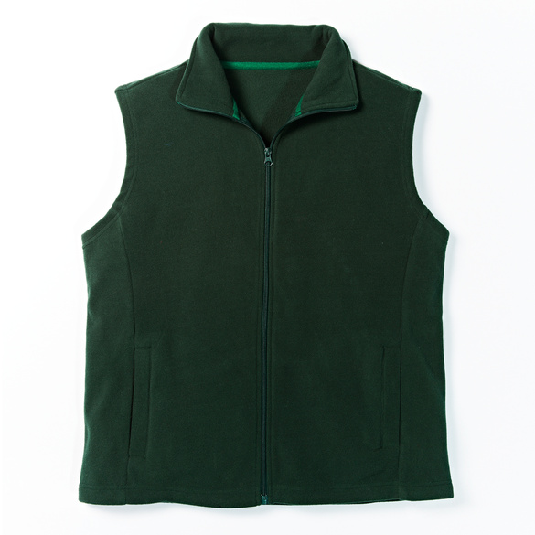Fleece-Weste grün