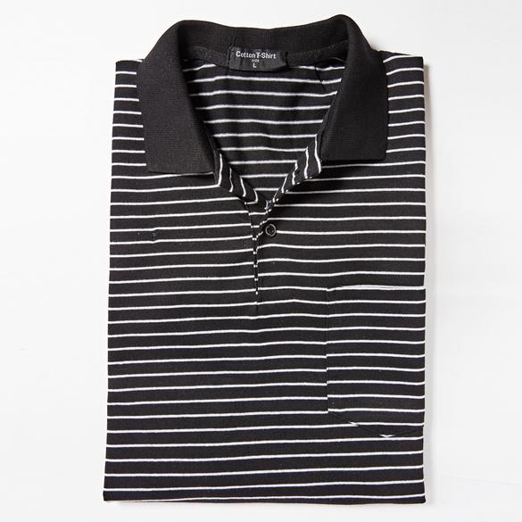 Poloshirt schwarz-weiß gestreift
