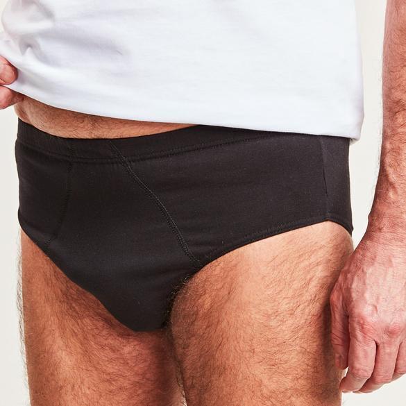 Männer-Slip, schwarz