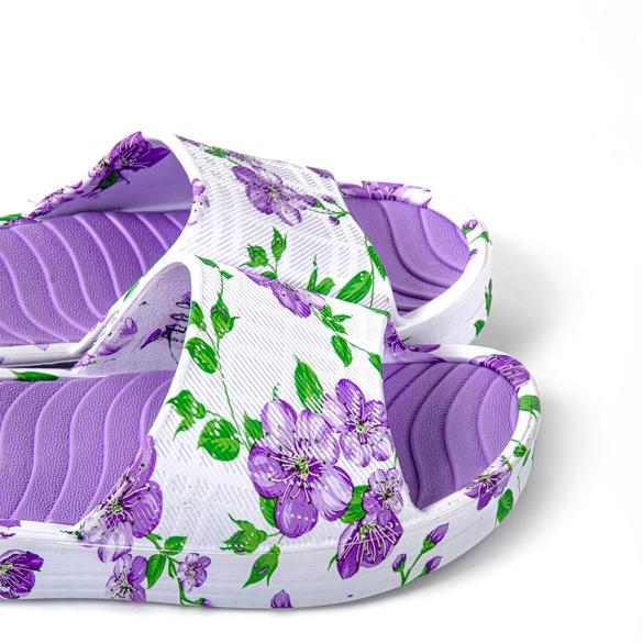 "Badepantolette ""Pant Yoko"" lila-floral"
