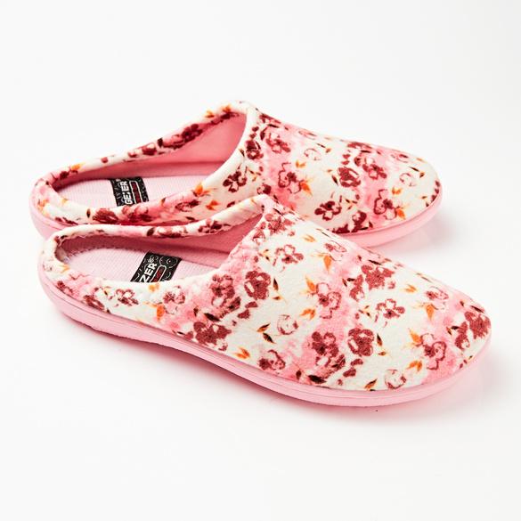 """Pantoffel """"Kathi"""" pink-weiß"""