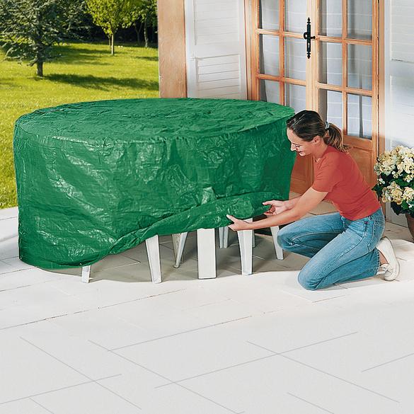 Abdeckhaube für Tisch + 4 Gartenstühle