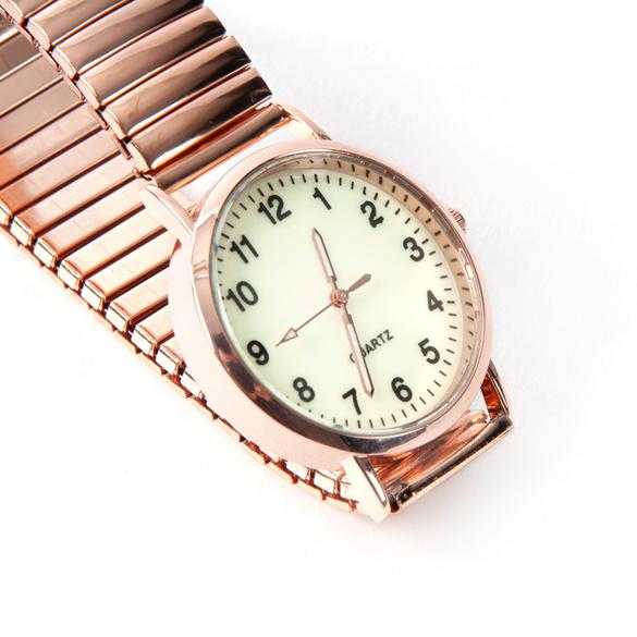 Armbanduhr roségold groß