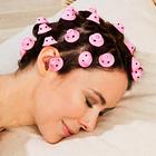 Schlaf-Lockenwickler rosa, 24er-Set