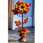 """Kugelbaum """"Sonnenblumen"""" beleuchtet"""