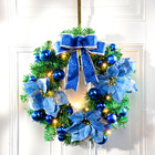 LED-Weihnachtskranz royalblau