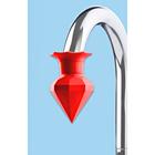 "Wasserhahn-Entkalker ""Diamant"" rot"