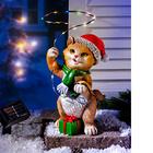 """Solar-Figur """"Weihnachtskätzchen"""""""