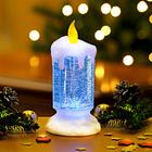 LED-Kerze mit Glitter