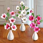 Magnolienzweige pink, 2er-Set