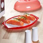 Mikrowellen-Kochplatte rot