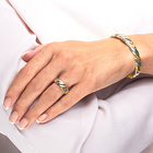 Magnet-Ring gold/silber
