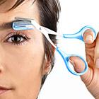 Augenbrauen-Schere, blau