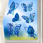 "Fensterbild ""Schmetterlinge"" blau, 6-tlg."