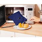 Mikrowellentasche für Kartoffeln blau