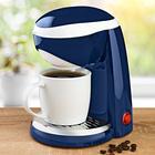 1-Tasse-Kaffeemaschine in blau und weiss