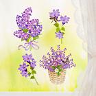"""Fensterbild """"Lila Blüten"""""""