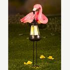 Solar-Laterne mit Flamingo