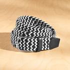 Flechtgürtel elastisch schwarz + schwarz/weiß, 2er-Set