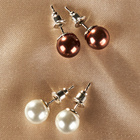 Perlen-Ohrstecker, 2 Paar