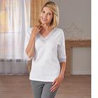 Spitzen-Shirt weiß