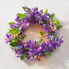 LED-Blumenkranz lila