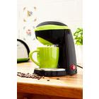 1-Tasse-Kaffeemaschine blau-weiß
