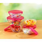 Glasschüsseln pink, 5er-Set