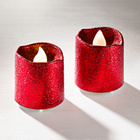 LED-Kerzen rot, 2er-Set