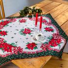 """Weihnachts-Tischdecke """"Christstern"""" rot"""