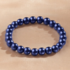 Perlenarmband blau, L19 cm