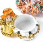 """Teelichthalter """"Engel"""" mit Konfekt"""