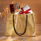 Geschenktasche goldfarben