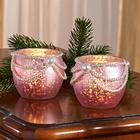 Teelichthalter rosé-gold