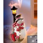 LED-Laterne mit Schneemann