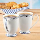 "Kaffeetasse ""Zwiebelmuster"" Basilico"