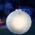 Solar-Lampion weiß