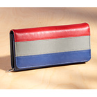 "Langbörse ""Tricolor"" blau-rot-grau"