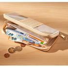 Geldbörse mit Flechtung beige