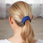 Haarspangen mit Schleife blau + cognac, 2er-Set