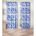 """Vorhang """"Schmetterling"""" blau"""