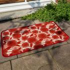 """Fußmatte """"Herbstblumen"""" rostrot, 50 x 90 cm"""