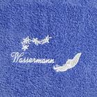 "Duschtuch ""Wassermann"" blau"