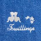 "Duschtuch ""Zwilling"" blau"