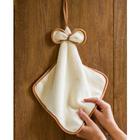 Handtuch mit Schleife beige