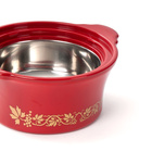 Thermoschüssel rot-gold, 2000 ml