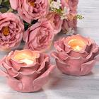 "Teelichthalter ""Rosenblüte"""